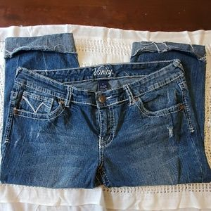Size 31 Vanity Cropped Jeans.